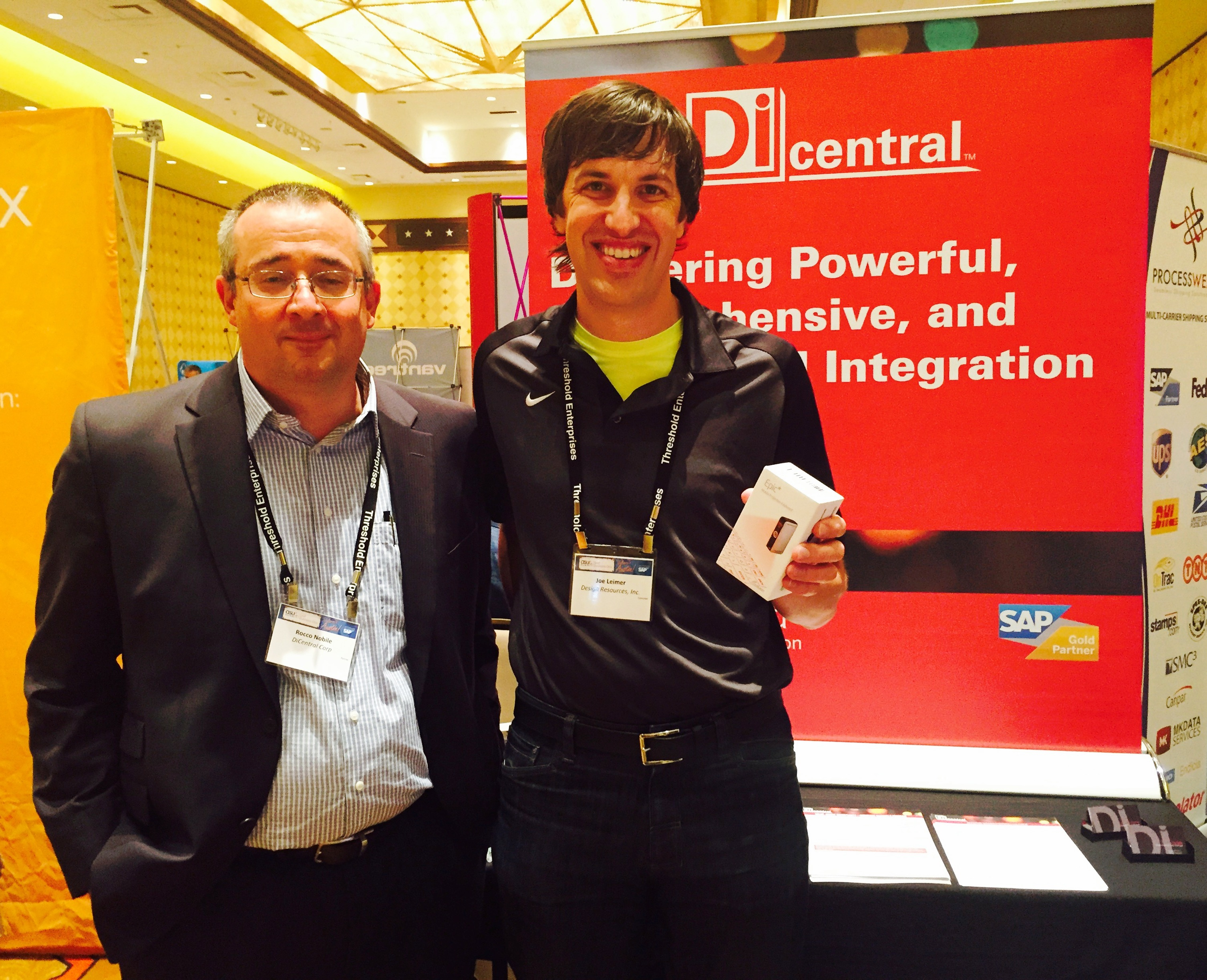 Congrats to the Winner of the DiCentral Prize Giveaway at ASUG SAP Business One Summit